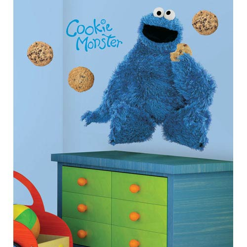 Roommates Decor Sesame Street Cookie Monster Peel and Stick Giant Wall Decal