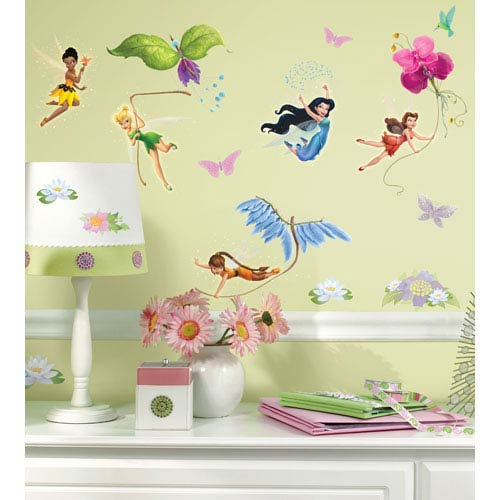 Roommates Decor Disney Fairies Peel and Stick Wall Decals
