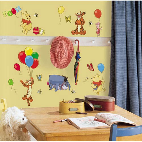 Roommates Decor Winnie the Pooh - Pooh and Friends Peel and Stick Wall Decal