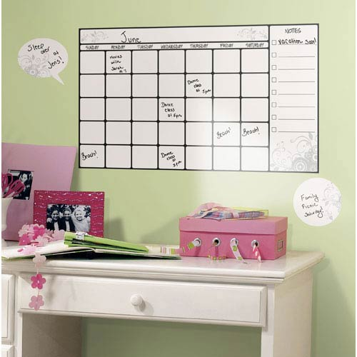 Dry Erase Calendar Peel and Stick Wall Decal