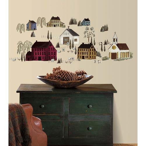 Roommates Decor Country Scenic Peel and Stick Wall Decals