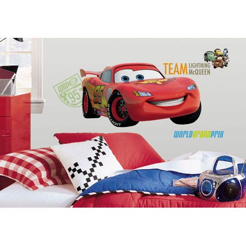 Roommates Decor Cars 2 Peel and Stick Giant Wall Decal