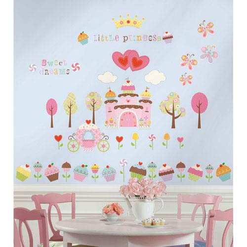 Roommates Decor Happi Cupcake Land Peel and Stick Wall Decals