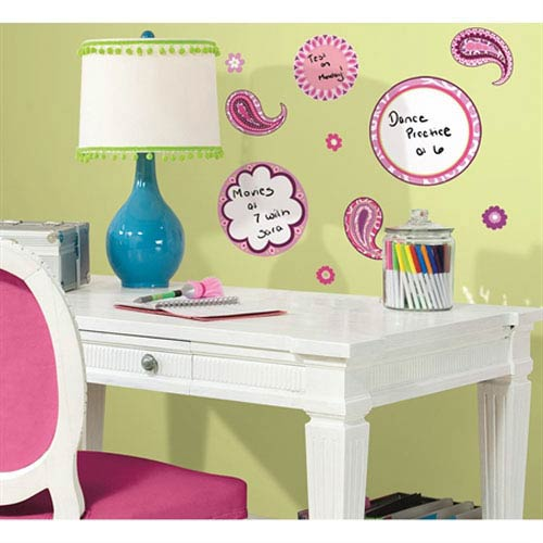 Roommates Decor Paisley Dry Erase Peel and Stick Wall Decals