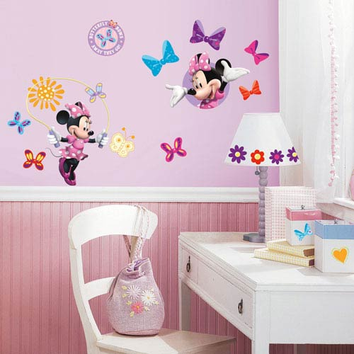 Roommates Decor Mickey and Friends - Minnie Bow-Tique Peel and Stick Wall Decals