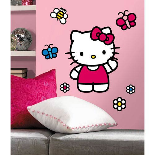 Roommates Decor Hello Kitty - The World of Hello Kitty Peel and Stick Giant Wall Decals