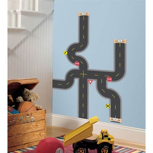 Roommates Decor Build-A-Road Peel and Stick Wall Decals
