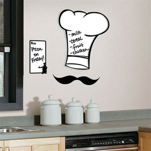 Chefs Hat Dry Erase Peel and Stick Giant Wall Decals