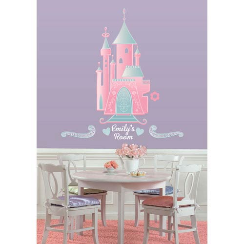Roommates Decor Disney Princess - Castle Peel and Stick Giant Wall Decal w/Personalization