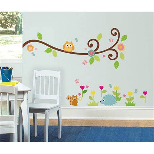 Roommates Decor Happi Scroll Branch Peel and Stick Wall Decals