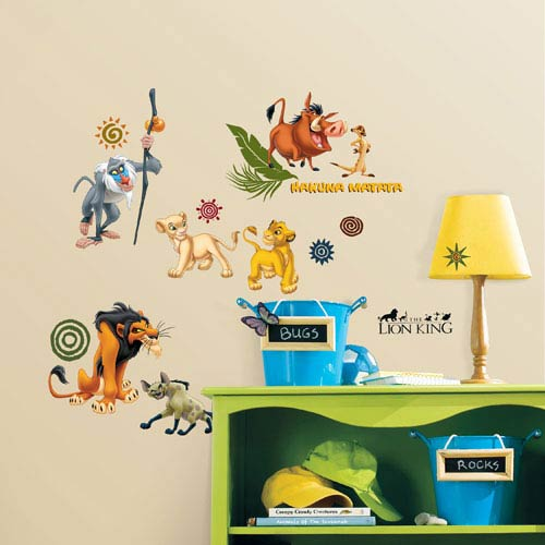 Roommates Decor The Lion King Peel and Stick Wall Decals