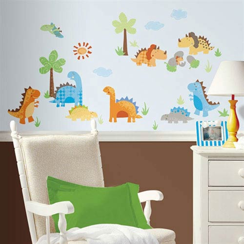 Roommates Decor Babysaurus Peel and Stick Wall Decals