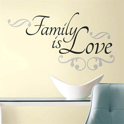 Roommates Decor Family is Love Peel and Stick Wall Decals