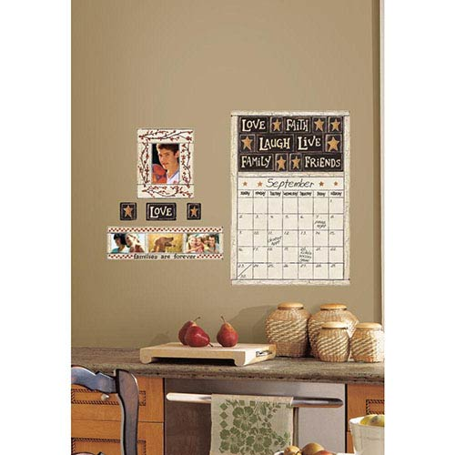 Roommates Decor Deco Tan Family and Friends Peel and Stick Dry Erase Calendar