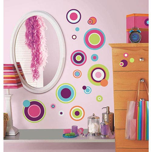 Roommates Decor Multicolor Crazy Dots Peel and Stick Wall Decal