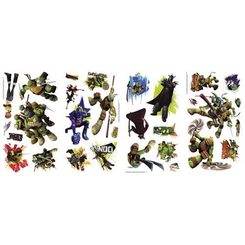 Roommates Decor Popular Characters Multicolor Teenage Mutant Ninja Turtles Peel and Stick Wall Decal