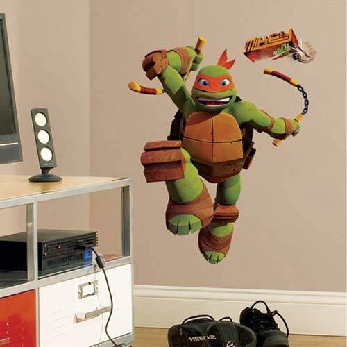 Roommates Decor Teenage Mutant Ninja Turtles Mike Peel & Stick Giant Wall Decals