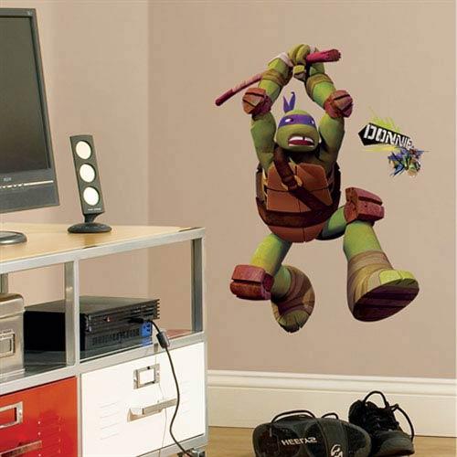 Roommates Decor Teenage Mutant Ninja Turtles Don Peel & Stick Giant Wall Decals