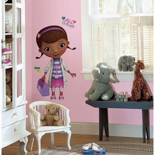 Roommates Decor Doc McStuffins Peel & Stick Giant Wall Decals