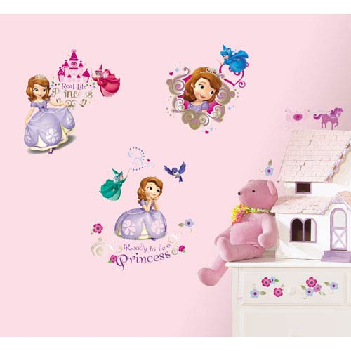 Roommates Decor Sofia the First Peel and Stick Wall Decals