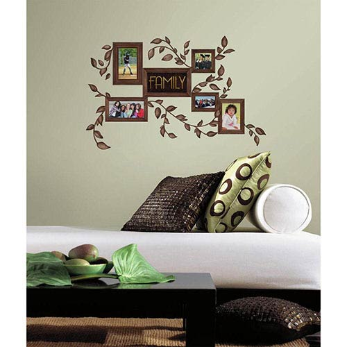Roommates Decor Deco Brown Family Frames Peel and Stick Wall Decal