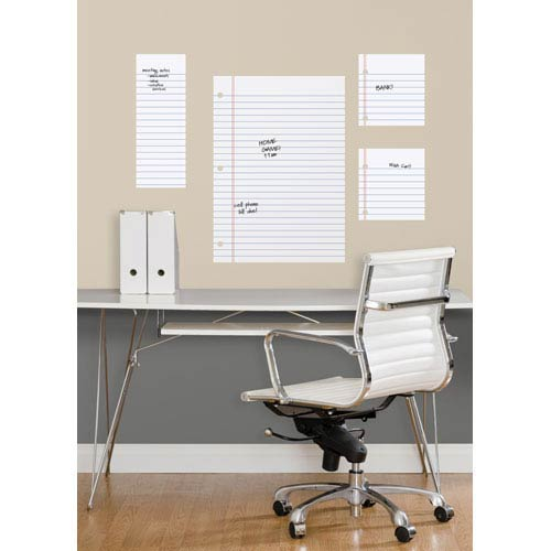 Notebook Paper Dry Erase Peel and Stick Giant Wall Decals