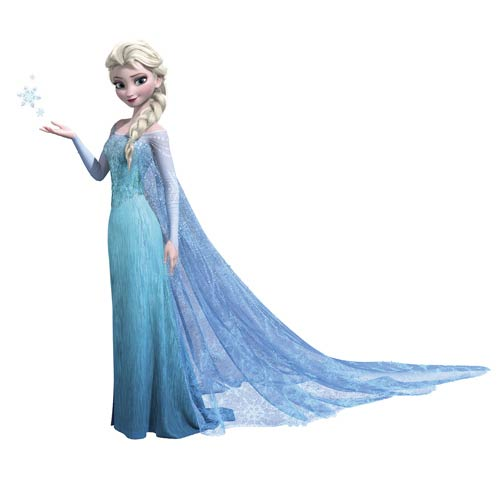 Roommates Decor Popular Characters Blue Frozen Elsa Peel and Stick Giant Wall Decal