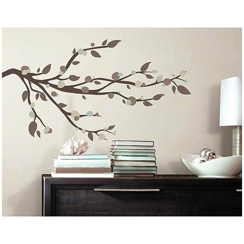 Roommates Decor Deco Multicolor Mod Branch Peel and Stick Wall Decal