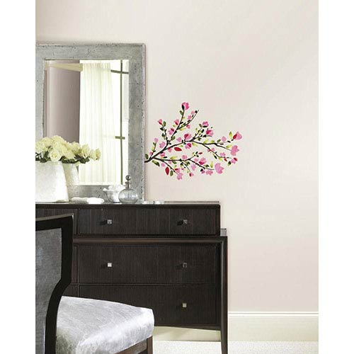 Roommates Decor Deco Pink Blossom Branches Peel and Stick Wall Decal