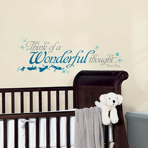 Roommates Decor Popular Characters Blue Peter Pan Wonderful Thought Peel and Stick Wall Decal