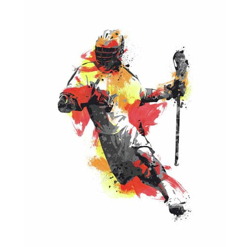 Roommates Decor Multicolor Mens Lacrosse Champion Peel and Stick Giant Wall Decals
