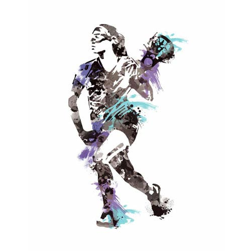 Roommates Decor Multicolor Womens Lacrosse Champion Peel and Stick Giant Wall Decals