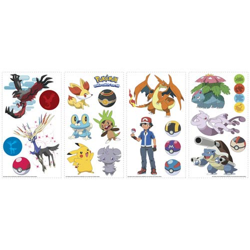Roommates Decor Pokemon XY Peel and Stick Wall Decals