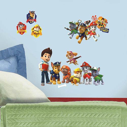 Roommates Decor Popular Characters Multicolor Paw Patrol Peel and Stick Wall Decal