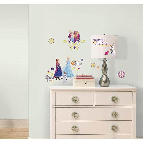 Roommates Decor Popular Characters Blue Frozen Spring Peel and Stick Wall Decal