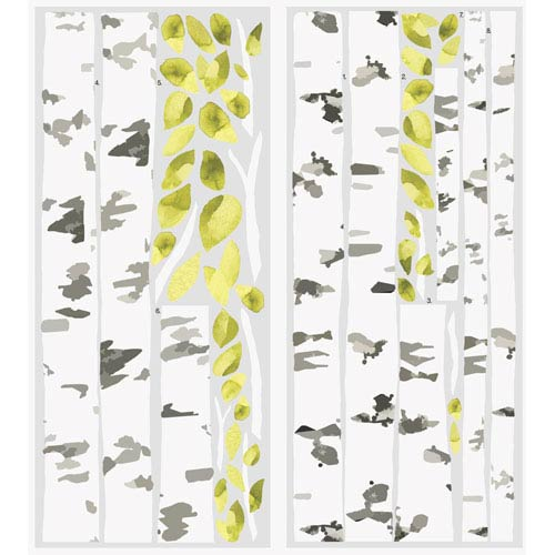 Roommates Decor Birch Trees Peel and Stick Giant Wall Decals