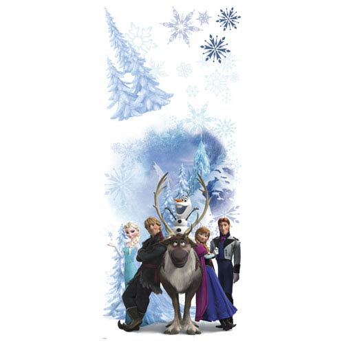 Disney Frozen Character Winter Burst Peel and Stick Giant Wall Decals