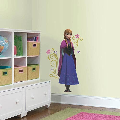 Roommates Decor Popular Characters Blue Frozen's Anna with Cape Giant Peel and Stick Wall Decal
