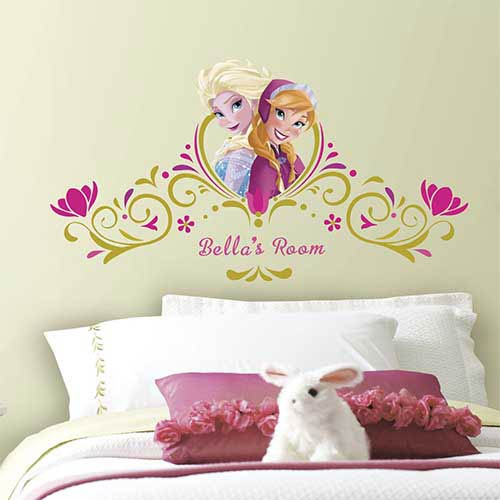 Popular Characters Pink Frozen SpringTime Custom Headboard Peel and Stick Giant Wall Decal