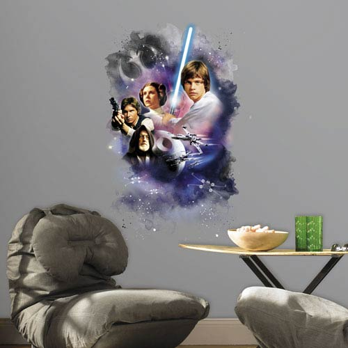 Roommates Decor Star Wars Classic Mega Peel and Stick Giant Wall Decals
