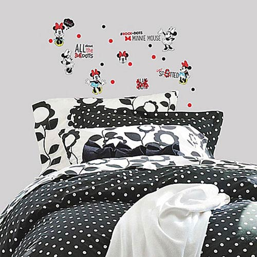 Roommates Decor Minnie Rocks the Dots Peel and Stick Wall Decals