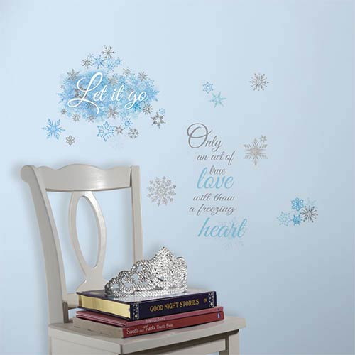 Roommates Decor Popular Characters Blue Frozen Let It Go Peel and Stick Wall Decal