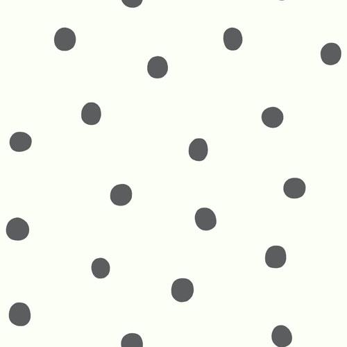 Roommates Decor Black Dots Peel and Stick Wallpaper