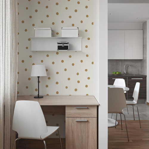 Gold Dots Peel and Stick Wallpaper