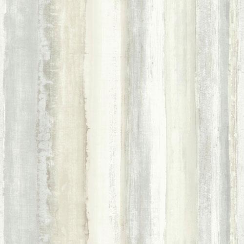 Roommates Decor Tan Watercolor Stripe Peel and Stick Wallpaper
