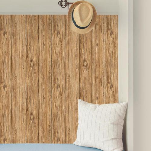 Brown Mushroom Wood Peel and Stick Wallpaper
