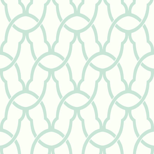 Blue Trellis Peel and Stick Wallpaper
