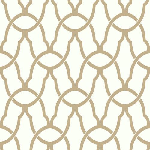 Gold Trellis Peel and Stick Wallpaper