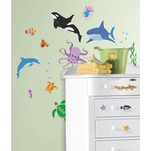 Roommates Decor New Speed Limit Multicolor Awesome Ocean Peel and Stick Wall Decal