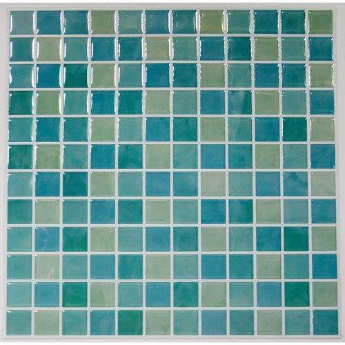 Blue Mosaic StickTILES, Set of Four